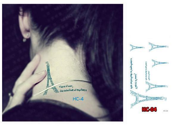 EIFFEL TOWER PARIS Waterproof Removable Temporary Tattoo Body Arm Art Sticker