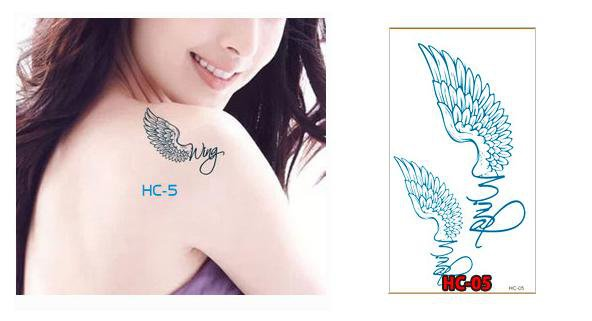 ANGEL WINGS Waterproof Removable Temporary Tattoo Body Arm Art Sticker