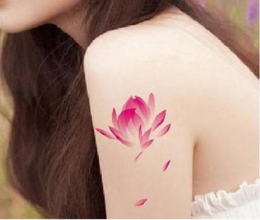 LOTUS Waterproof Removable Temporary Tattoo Body Arm Art Sticker