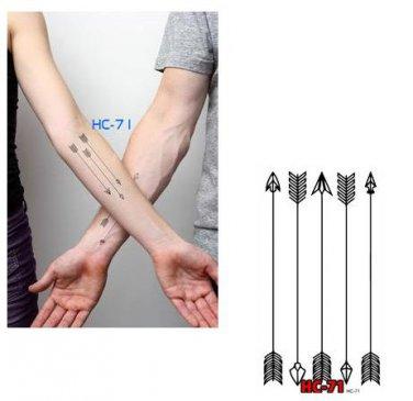 ARROWS Waterproof Removable Temporary Tattoo Body Arm Art Sticker