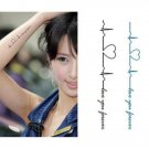 HEART BEEP Waterproof Removable Temporary Tattoo Body Arm Art Sticker