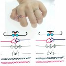 CUTE BOW LACE RING Waterproof Removable Temporary Tattoo Body Arm Art Sticker