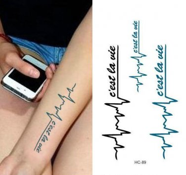 LOVING YOU Waterproof Removable Temporary Tattoo Body Arm Art Sticker