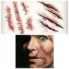 Scar Halloween Special Effects Waterproof Removable Temporary Tattoo Body Arm Art Sticker