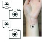 Camera Temporary Tattoo Body Arm Art Sticker