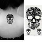 Floral Skull Sexy Temporary Tattoo Body Arm Art Sticker