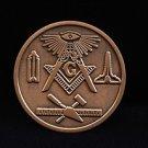 Blue Lodge Freemason Masonic Copper Coin