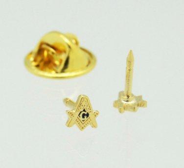 "Blue Lodge Square & Compasses Masonic Freemason Lapel Pin 3/16"""