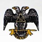 32nd Degree Scottish Rite Masonic Freemason Patch