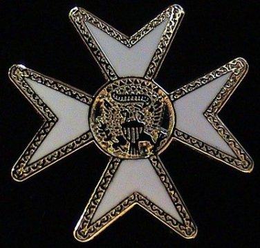 York Rite Maltese Malta Cross Masonic Freemason Lapel Pin