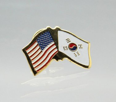United States South Korea Friendship Flag Lapel Pin
