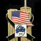 Elks 9-11 9-11-01 Twin Towers U.S. American Flag Lapel Pin