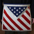 U.S. American Flag Freemason Masonic Blue Lodge Apron FREE S&H