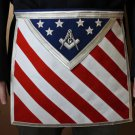 U.S. Flag Freemason Masonic Blue Lodge Square & Compasses Apron