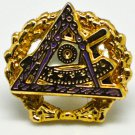 York Rite Council Of Cryptic Masonic Deluxe Lapel Pin