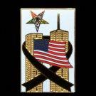 Order Eastern Star 9-11 Twin Towers U.S. Flag Lapel Pin
