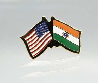 United States India Friendship Flag Lapel Pin