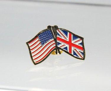 United States United Kingdom Friendship Flag Lapel Pin