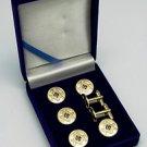 Blue Lodge Square & Compasses Masonic Button Cover Set