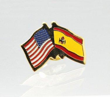 United States Spain Friendship Flag Lapel Pin