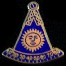 Past Master Masonic Freemason F&AM No Square Lapel Pin