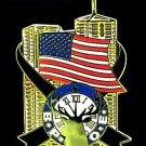 Elks 9-11 9-11-01 Twin Towers U.S. American Flag Lapel Pin Old Emblem