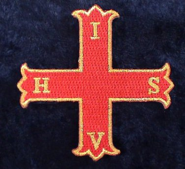 RCC Red Cross Of Constantine Masonic Size Large Patch