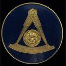 F&AM Past Master Without Square Masonic Freemason Car Bumper Sticker