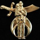 Shriners Editorial Without Words Masonic Lapel Pin
