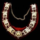 Shriners Officers Masonic Freemason Collar
