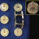 PastGrand MasterMasonic Freemason Button Cover Tux Set