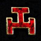 York Rite Triple Tau Masonic Freemason Lapel Pin