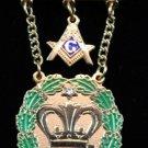 AmaranthPast Royal Patron 1 Stone & Square & Compass Masonic Jewel