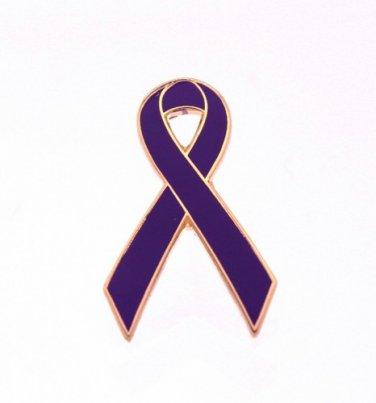 Purple RibbonAwarenessLapel Pin