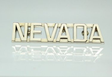 Nevada Silver Uniform Lapel Pin Bar