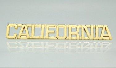 California Gold Uniform Lapel Pin Bar