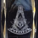 AF&AM Past Master With Square Crystal Masonic Freemason