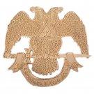32nd Degree Scottish Rite Masonic Freemason GOLD Car Bumper Sticker NEW!