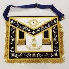 Past Master Freemason Masonic Leather Gold Apron