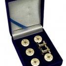 Square & Compasses Blue Lodge Masonic Button Cover Set