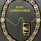 Knights Templar York Rite Past Commander Masonic Collar