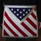 Blue Lodge Patriotic Masonic Freemason U.S. Flag Apron