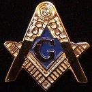 Blue Lodge Square & Compasses Flat Masonic Freemason 1''
