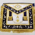 Past Master Freemason Masonic Silk Gold Apron