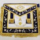 Past Master Freemason Masonic Silk Gold Apron