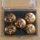 Order Of The Eastern Star OES Button Cover Tux Set Model No. 2 ONLY 2 SETS LEFT!