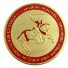 Knights Templar On Horse Red Cross Freemason Masonic Silver Plated Coin