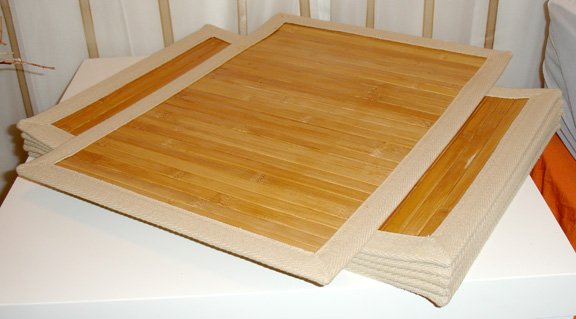 bamboo placemats - set of 6