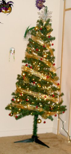fully loaded christmas decorating kit- includes tree, decorations, wreath & lights!