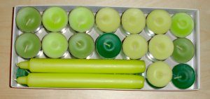 green candle set